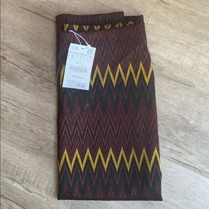 Zara long & stretch tribal print skirt.